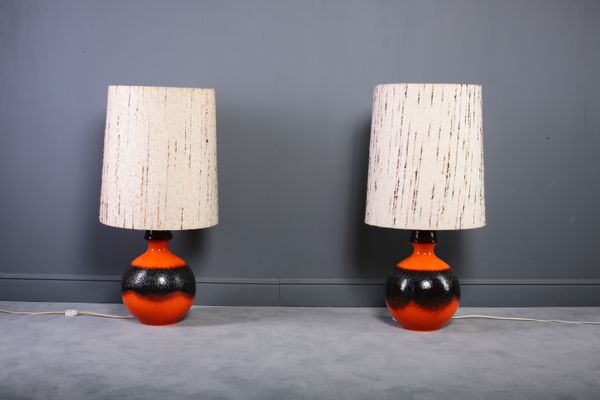 German Floor Lamps with Fat Lava Base, 1960s, Set of 2 for sale at ...