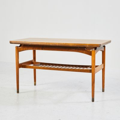 Danish Rosewood Expandable Coffee Table 1970s for sale at Pamono