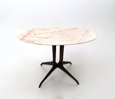 Italian Coffee Table With Portuguese Pink Marble Top, 1950s 1
