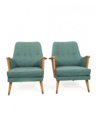 Swedish Lounge Chairs, 1960s, Set Of 2 2