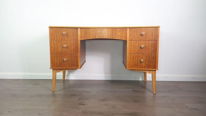 Vintage Walnut Veneer Desk By Vesper For Gimson Slater