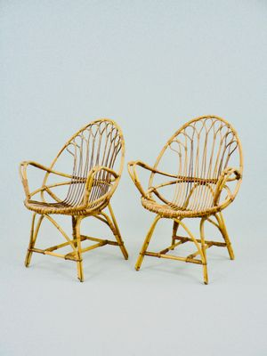 Rattan Armchairs, 1950s, Set Of 2 2