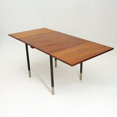 Tavolo quadrato allungabil in teak di Giampiero Vitelli per Rossi di ...