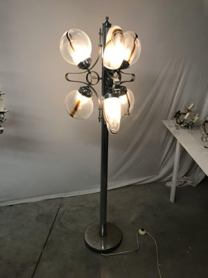 Vintage Italian Murano Glass Floor Lamp for sale at Pamono