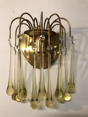 Vintage Italian Murano Glass Wall Lights Set Of 2 9