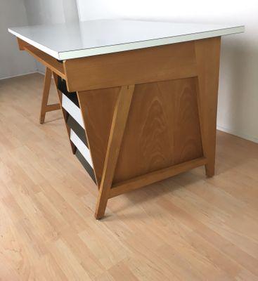 Mid Century German Desk From Leuwico 1960s 9