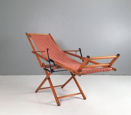 Antique Foldable Deck Chair 2 - Antique Foldable Deck Chair For Sale At Pamono