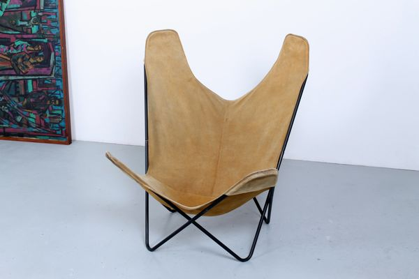 Vintage Butterfly Chair by Jorge Ferrari Hardoy for Knoll for sale ...