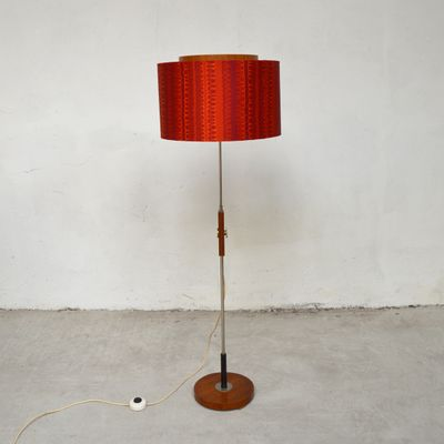 Red adjustable floor lamp 1960s for sale at pamono red adjustable floor lamp 1960s 2 mozeypictures Gallery