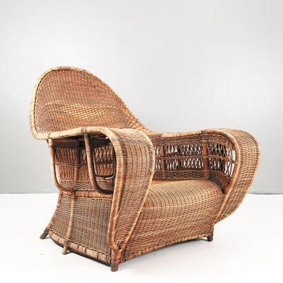 Wicker Lounge Chair, 1930s 2