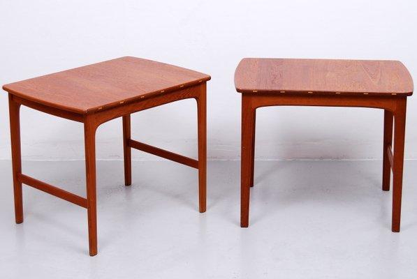 Solid Teak Side Tables By Yngvar Sandström For Säffle Möbelfabrik, 1960s,  Set Of 2