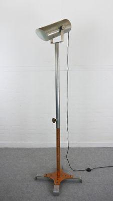 Vintage industrial floor lamp in copper and grey for sale at pamono vintage industrial floor lamp in copper and grey 2 aloadofball Image collections