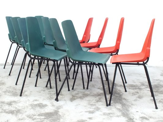 Vintage Plastic Chairs from Fantasia France 1960s Set of 12 1  sc 1 st  Pamono & Vintage Plastic Chairs from Fantasia France 1960s Set of 12 for ...