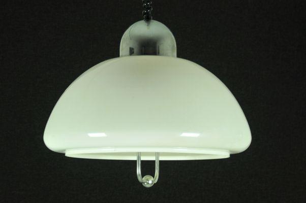 Height Adjustable Pendant Lamp 1960s 1