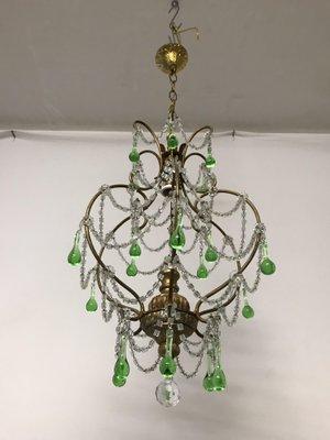 Vintage italian macaroni crystal beaded murano drop chandelier for vintage italian macaroni crystal beaded murano drop chandelier 7 aloadofball Images
