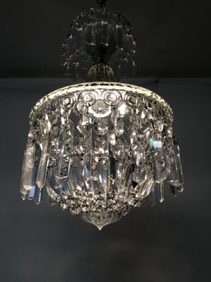 Vintage italian murano crystal chandelier for sale at pamono vintage italian murano crystal chandelier 3 aloadofball Gallery