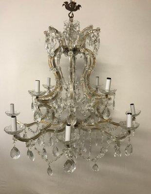 Vintage large italian crystal chandelier for sale at pamono vintage large italian crystal chandelier 1 mozeypictures Images