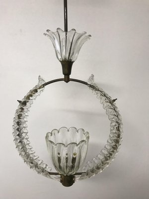 Vintage Murano Glass Pendant Light By Ercole Barovier 8