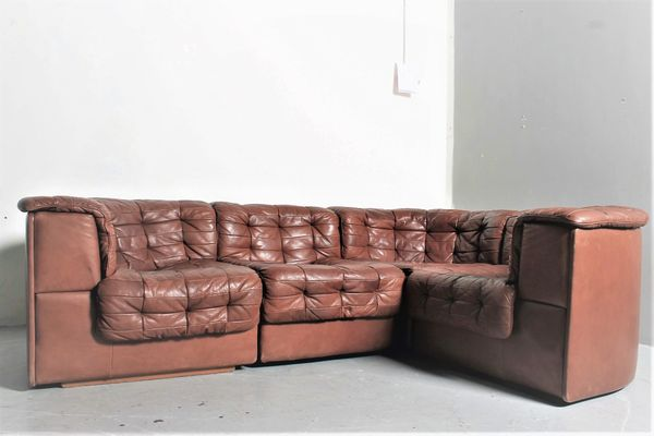 Vintage DS11 Chocolate Brown Modular Sofa From De Sede 2
