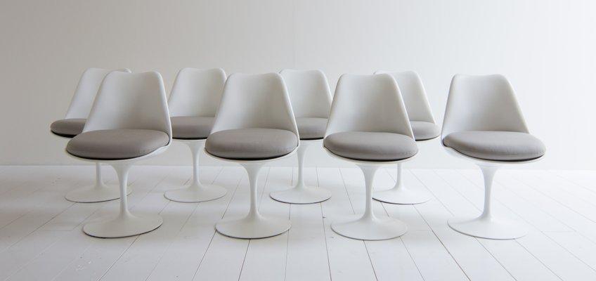 Tulip Chairs By Eero Saarinen For Knoll International, 1950s, Set Of 8 1
