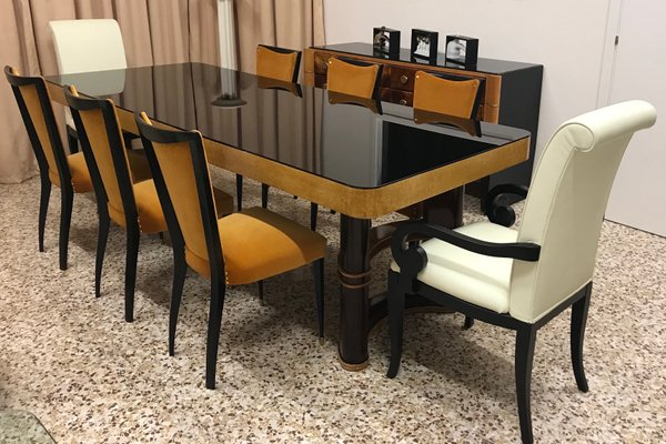 Beautiful Vintage Italian Dining Table, 1940s 2
