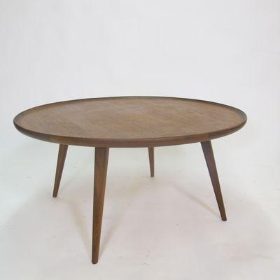 Mid Century Round Teak Coffee Table 1950s 1