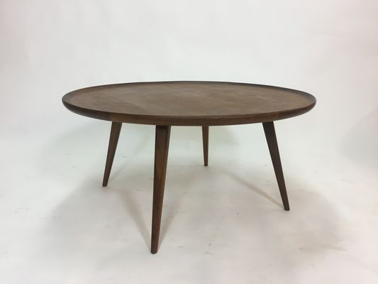 Mid Century Round Teak Coffee Table 1950s 6