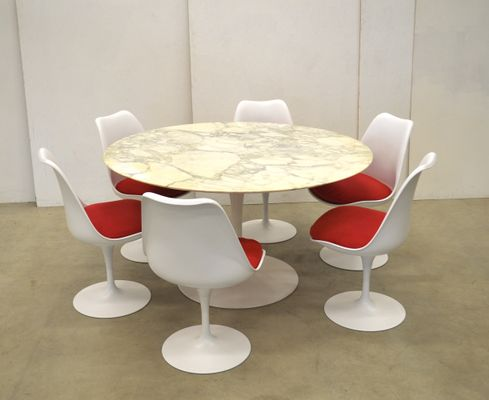 Tulip Dining Set By Eero Saarinen For Knoll International, 1970s 1