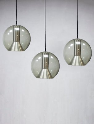 Large Dutch Globe Pendant Lamp By Frank Ligtelijn For Raak 1960s 3