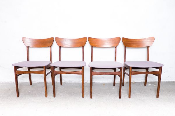 danish teak chairs from fredly møbelfabrik 1960s set of 4 for sale