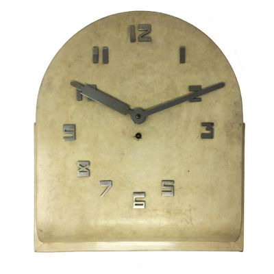 Art Deco French Parchment Wall Clock, 1930s for sale at Pamono