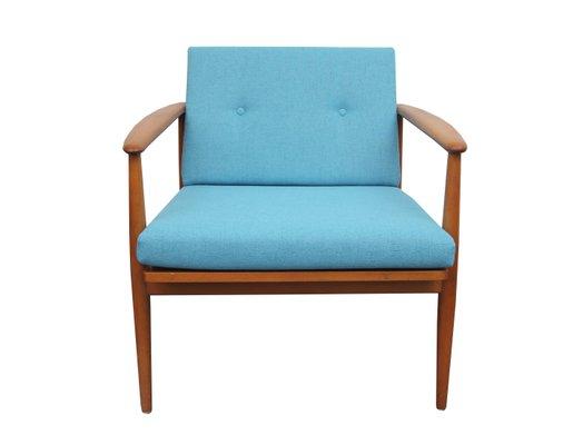 Vintage Light Blue Beech Armchair 1