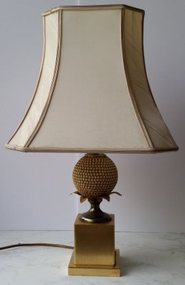 Vintage Pineapple Table Lamp By Maison Jansen For Maison Charles 1