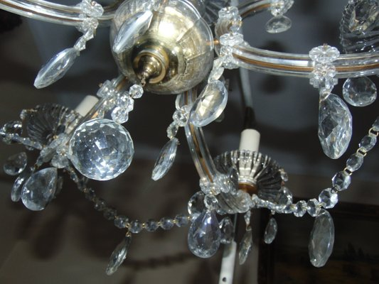 Art deco crystal chandelier for sale at pamono art deco crystal chandelier 10 aloadofball Choice Image