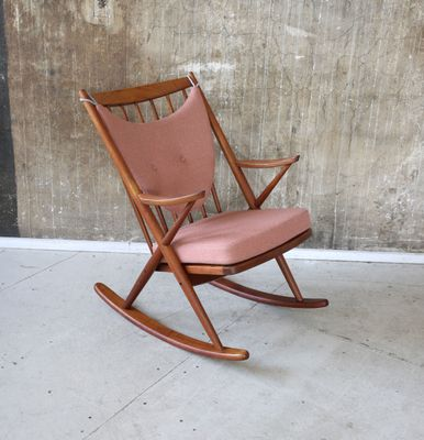Mid Century Danish Rocking Chair By Frank Reenskaug For Bramin 4