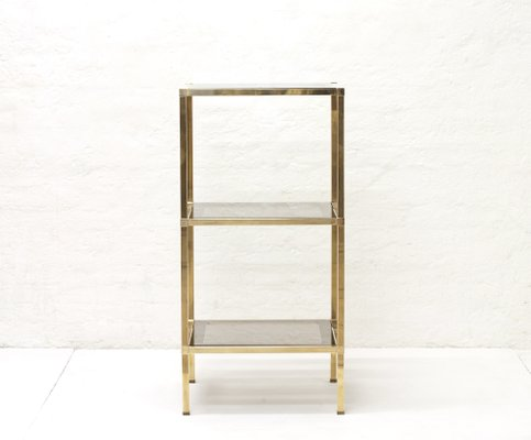 Vintage Italian Freestanding Brass and Smoked Glass Shelf for sale ...