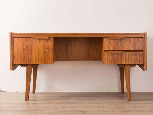 Walnut Veneer Desk 1960s 1