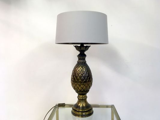 Vintage Brass Pineapple Table Lamp 5