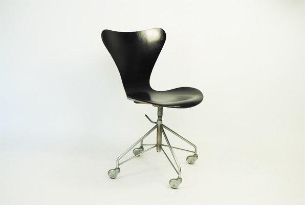 Desk Chair By Arne Jacobsen For Fritz Hansen, 1963 2