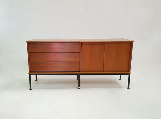 Sideboard in Oak with 2 Sliding Doors \u0026 3 Drawers from Oscar 1950s 1 & Sideboard in Oak with 2 Sliding Doors \u0026 3 Drawers from Oscar 1950s ...