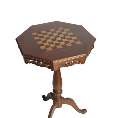 Small Mid Century Chess Game Table In Walnut 2