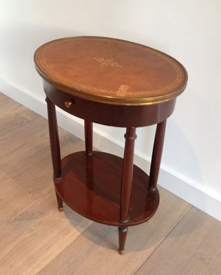 Small Oval Table With Leather Top 6