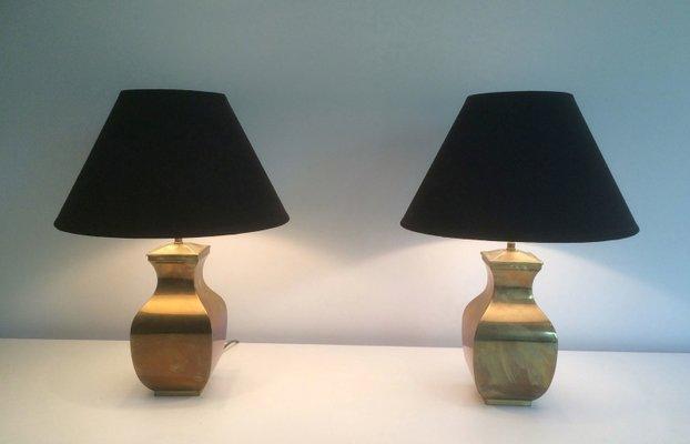 Post modern brass table lamps set of 2 en venta en pamono post modern brass table lamps set of 2 imagen 1 aloadofball Choice Image