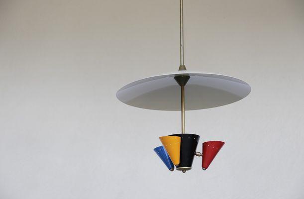 Vintage Italian Pendant Light 1960s 2