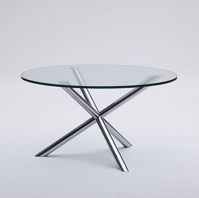 Vintage Glass U0026 Chrome Dining Table 5
