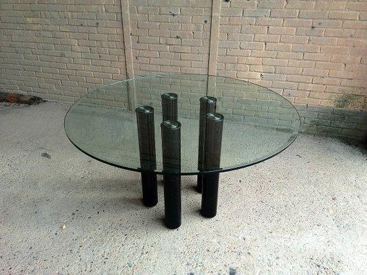 Tavolo da pranzo in vetro di Marco Zanuso per Zanotta, 1979 in ...