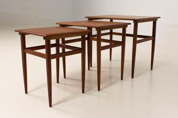 Mid Century Modern Danish Nesting Tables, 1960s 2