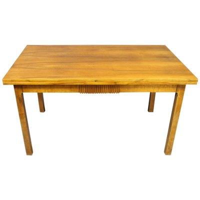 Extendable Danish Walnut Dining Table, 1940s 1