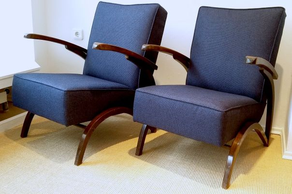 Good Vintage Armchairs By Jindrich Halabala, 1930s, Set Of 2 2