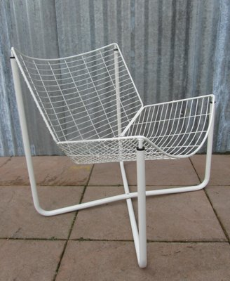 White Jarpen Wire Chair By Niels Gammelgaard For Ikea 1983 3